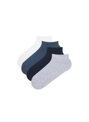 Penti Basic 4 Lü Patik Çorap Mavi